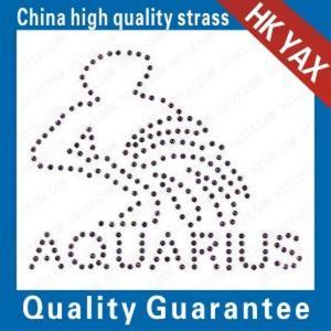 China fashion design process-portrait rhinestone hot fix motifs;china tactory hotfix motifs;amazing motif hotfix on sale