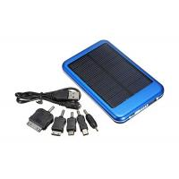 Quality 5000mah Blue Solar Emergency Phone Charger For Iphone 4S / HTC for sale