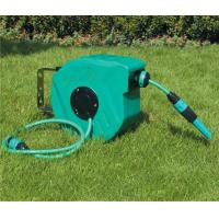 Buy cheap Plastic retractable garden hose reels 10m/15m/20m/30m , garden hose retractable reel product
