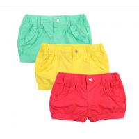 China Cute Candy Color Baby Girl Pants Shorts Newborn Baby Girl Boutique Outfits on sale