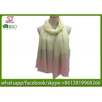 Chinese factory frayed three colors ombre lightweight scarf 100% Viscose 100
