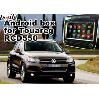Quality Android GPS Navigation Box Video Interface For Touareg RCD550 Offline Navigation Waze Youtube Mirror Link for sale