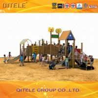 Buy cheap Wood Children Play Area Equipment , Kids Play Park Equipment product