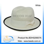 Quality Elegant white short brim wool fedora hat ladies for sale