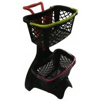 Buy cheap new plastic basket shopping trolley with and without shopping basket from wholesalers