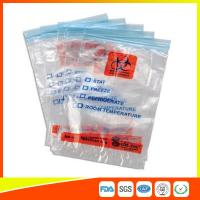 Quality Zip Seal Medical Transport Bags For Hospital , Biohazard Ziplock Bags for sale