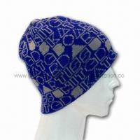 Patterned Beanie Hat, Made of 100% Knitted Acrylic, Suitable for Winter Season