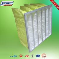 Quality F7 F8 Yellow Dust Collector Filters , Baghouse Filters 90%-95% Efficiency for sale