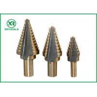 Quality Straight Flute HSS Step Drill Bit , 2 Inch Step Drill Bit For Multiple Hole for sale