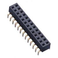 2.54 Pitch Centipede Feet Top Enter Female Pin Headers Double Row 20mΩ Max