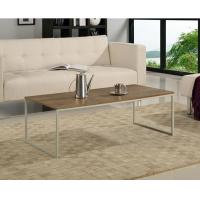 Buy cheap Contemporary Walnut Coffee Table , Metal And Wood Coffee Table Set With Metal Leg product