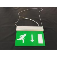 Quality 3 Hours Operation Rechargeable LED Double Side Emergency Exit Sign for sale