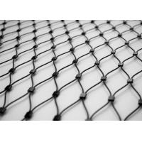Quality Architectural Metal Wire Rope Mesh , Crimped Stainless Steel Cable Netting for sale