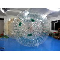 China Water Walking Inflatable Zorb Ball , Giant Hamster Ball For Humans 3.6m x 2.2m on sale