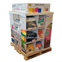 Quality Portable Large Corrugated Cardboard Pallet Display Shelf For Stationery for sale
