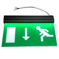 Quality Alumium End Cap Battery Powered Rechargeable Double Sided Exit Signs for sale