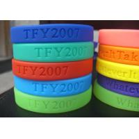 Quality 100% Silicone Colourful Debossed Personalized Custom Silicone Wristband / BraceletsFor Adult for sale