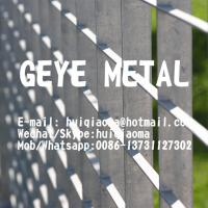 Quality Aluminium Bar Grating Perimeter Fences, Handrail Infill Panels, Security/Ventilation Screen for sale