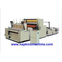 Buy cheap Full Automatic Paper Roll Rewinding Machine For Sanitary Napkin / Hankie product