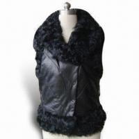 China Lamb Genuine Leather Vest with Curl Lamb Fur Inside, Comfortable and Warm to Wear During Winter on sale