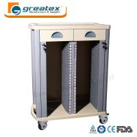 Quality Medical Storage Cart  Case History Trolley with Drawers Hospital Trolley for sale