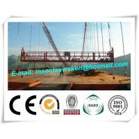 Hanging Scaffold Wind Tower Production Line , Aluminum Steel Suspended Working Platform