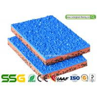 Quality Customized PU Mixed EPDM Granules Rubber Athletic Track For Volleyball Court for sale
