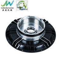 Black Powder Coated Machined Aluminum Parts , Electric Motorbike Hub Alu Die Casting Cover