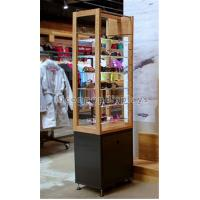 China Free Standing Sunglasses Display Case Wood Acrylic Eyeglass Display Tower For Eyewear on sale