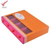 Quality Custom Logo Printing Food Packing Boxes Sliding Chocolate Drawer Box With PVC Window for sale