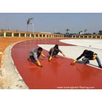 Buy Synthetic PU Running Track Flooring Runway For Sports Field Aging Resistance at wholesale prices