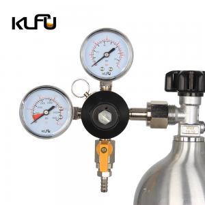 China Inlet Size G3/4 Dual Gauge Draft Beer 2000PSI Kegerator Pressure Regulator on sale