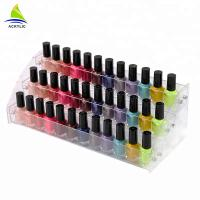 Quality Tiered Acrylic Cosmetic Display Acrylic Material Nail Polish Bottle Stand Holder Cosmetic Organizer for sale