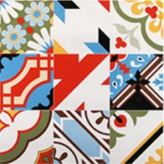 Quality Home Decor Painted 600*600mm 30kg Handmade Bathroom Tiles for sale