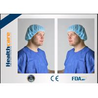 Buy cheap PP Or SMS Disposable Bouffant Surgical Caps , Disposable Nurse Cap Lightweight from wholesalers