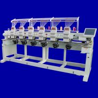 Quality Flat Garment Industrial Computer Embroidery Machine , Multi Head Machine Embroidery for sale