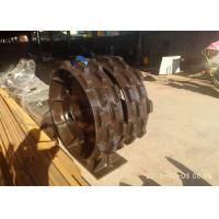 Quality Professional Excavator Compaction Wheel Long Lifespan With 2 Layer Knob Blocks for sale
