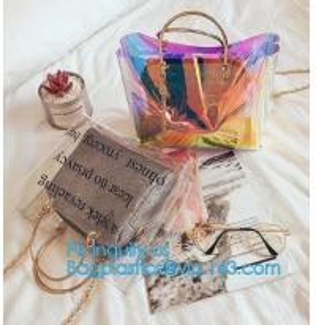 China PVC Leisure bag shoulder bag, sports bag, Transparent Tote Bag Clear Shoulder Bag, Economical light-weight pvc travel la on sale