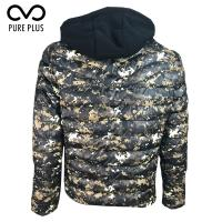 Quality Wind Proof Mens Light Padded Jacket / Winter Warm Mens Jacket Detachable Hood for sale