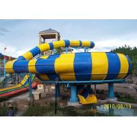 Quality Customized Color Tube Water Slide , Amusement Park Slides For Holiday Villa for sale
