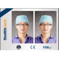 Buy cheap Medical Blue Disposable Head Cap Nonwoven Doctor Cap With Elastic Back And from wholesalers