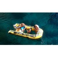 China Plastic Canoe Clear Bottom Inflatable Boat , Transparent Fishing Boats 10 Hp Power on sale