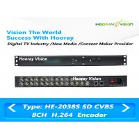 Buy cheap ISO Digital TV Encoder SD Encoder 8 IN 1 HD / MPEG4 / H.264 CVBS To IP And ASI Encoder product