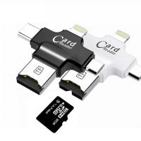 Buy cheap 4 In 1 Type - C Lightningusb Micro Sd Card Reader , USB 2.0 Sd Memory Card Reader product