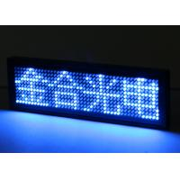 China Indoor LED Name Tag Badge Single Blue Color USB Micro. Communication port on sale