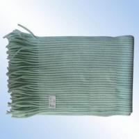 Quality 100 Percent Cashmere-like Knitted Ribbed Scarf for sale