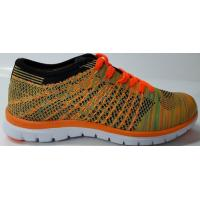 Quality fashion flyknit style authentic shoes with 3D EVA sole lightweight and breathe in anko shoe factory new develop in 2018 for sale