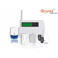 Quality LCD Display Touch Keypad 868mhz GSM SMS Alarm System with 30 wireless zone for sale