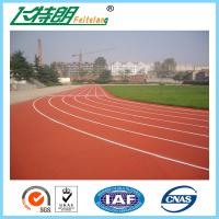 Quality Permeable Athletic Elastic Sports Field Jogging Track Material / Rubber Running Track for sale