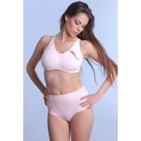 Quality Pink Fashion Customized 32A - 44E Anti-Bacterial Seamless Sexy OEM Underwire Nursing Bra for sale